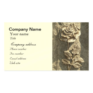 Customize Stone Rose Pack Of Standard Business Cards