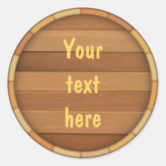 Customize the Barrel Round Sticker