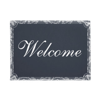 Customize the color and text! Welcome Doormat