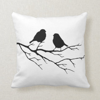 Customize the Color Two Birds in Tree Nature Cushion