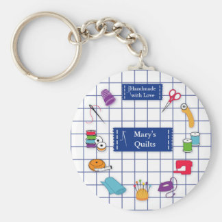 Customize the Label Quilt Time Key Ring