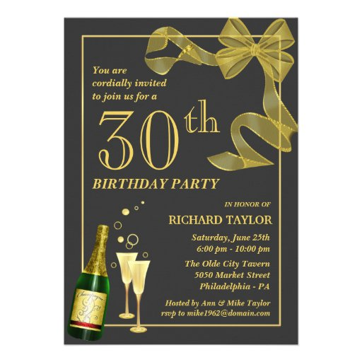 Customize the Year 30th Birthday Party Invitations