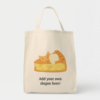 Customize this Apple Pie Slice graphic Grocery Tote Bag