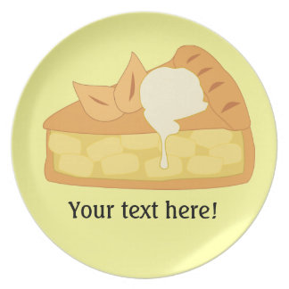 Customize this Apple Pie Slice graphic Plate