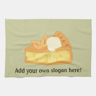 Customize this Apple Pie Slice graphic Tea Towel