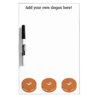 Customize this Bagel graphic Dry Erase Board
