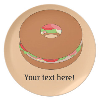 Customize this Bagel graphic Plate