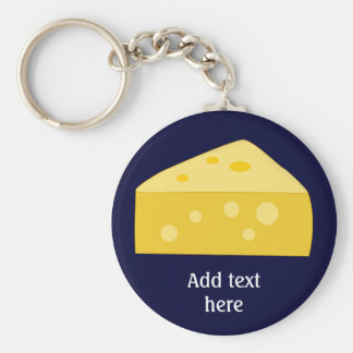 Customize this Big Cheese graphic Basic Round Button Key Ring