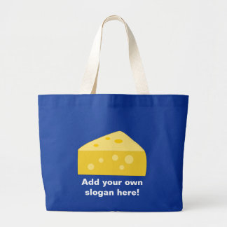 Customize this Big Cheese graphic Large Tote Bag