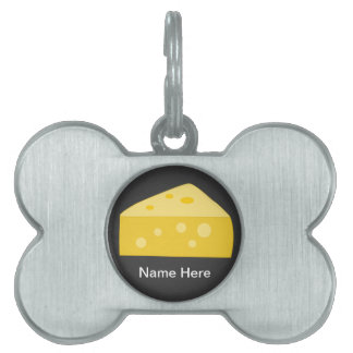 Customize this Big Cheese graphic Pet Name Tag