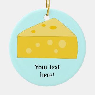 Customize this Big Cheese graphic Round Ceramic Decoration