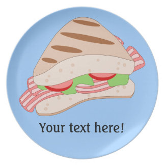 Customize this BLT Sandwich Graphic Plate
