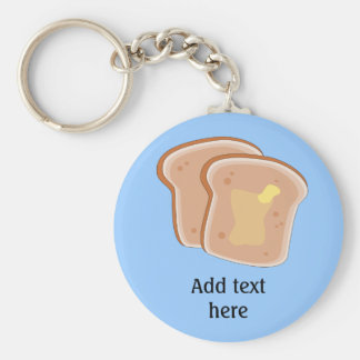 Customize this Buttered Toast graphic Key Ring