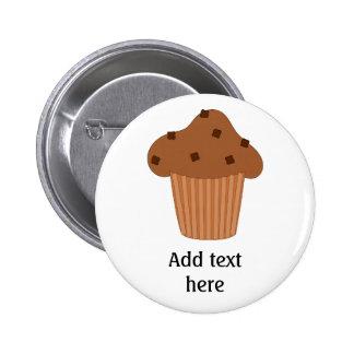 Customize this Choc Chip Muffin graphic 6 Cm Round Badge