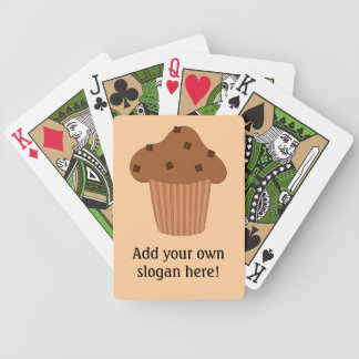 Customize this Choc Chip Muffin graphic Bicycle Playing Cards