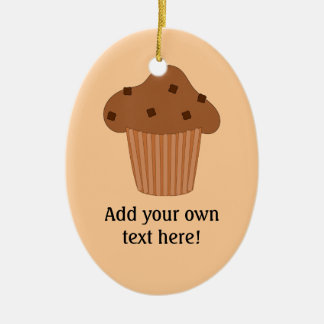Customize this Choc Chip Muffin graphic Ceramic Oval Decoration