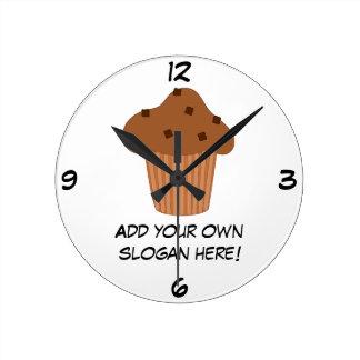 Customize this Choc Chip Muffin graphic Clock