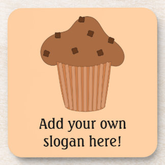 Customize this Choc Chip Muffin graphic Beverage Coasters