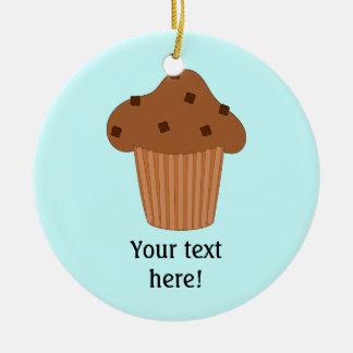 Customize this Choc Chip Muffin graphic Round Ceramic Decoration
