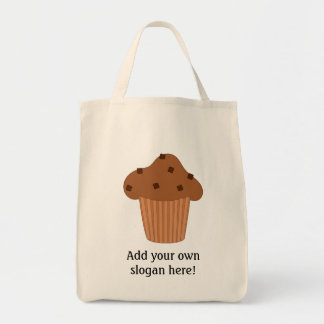 Customize this Choc Chip Muffin graphic Grocery Tote Bag