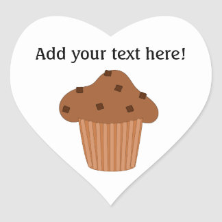 Customize this Choc Chip Muffin graphic Heart Sticker
