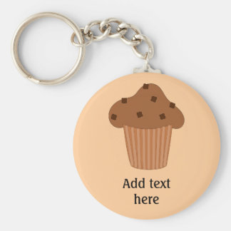 Customize this Choc Chip Muffin graphic Basic Round Button Key Ring