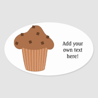 Customize this Choc Chip Muffin graphic Oval Sticker