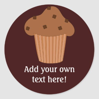 Customize this Choc Chip Muffin graphic Round Sticker