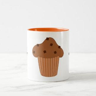 Customize this Choc Chip Muffin graphic Two-Tone Coffee Mug