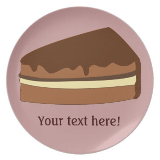 Customize this Chocolate Cake graphic Plate