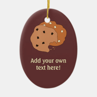 Customize this Cookies graphic Double-Sided Oval Ceramic Christmas Ornament