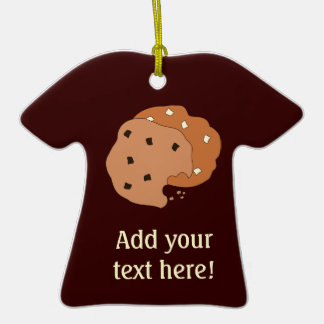 Customize this Cookies graphic Double-Sided T-Shirt Ceramic Christmas Ornament