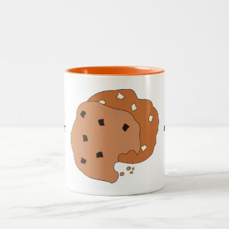 Customize this Cookies graphic Two-Tone Coffee Mug