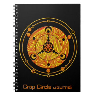 Customize This Crop Circle Alien Fun Geek Journal Notebooks
