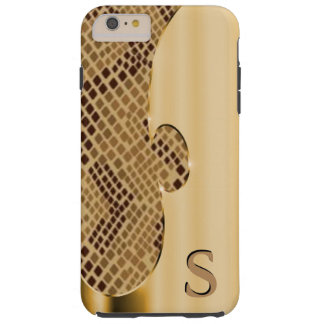 Customize this faux gold and snakeskin tough iPhone 6 plus case