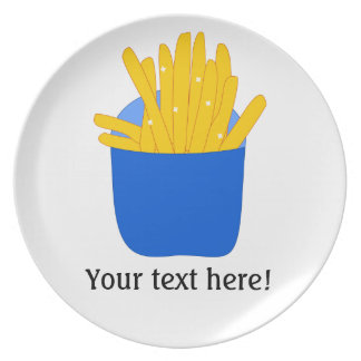 Customize this French Fries graphic Plate