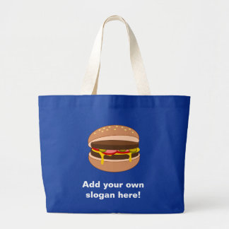 Customize this Hamburger graphic Jumbo Tote Bag