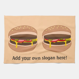 Customize this Hamburger graphic Kitchen Towel