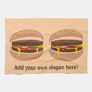 Customize this Hamburger graphic Tea Towel