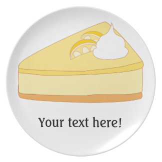 Customize this Lemon Cheesecake graphic Plate