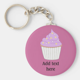 Customize this Lilac Cupcake graphic Key Ring