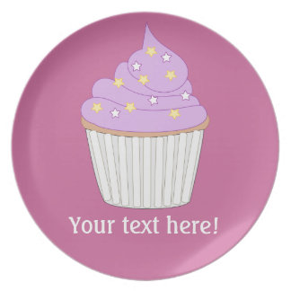 Customize this Lilac Cupcake graphic Plate