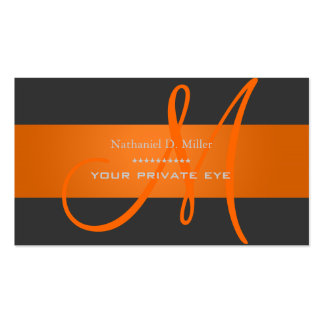 Customize this monogram business card diy color