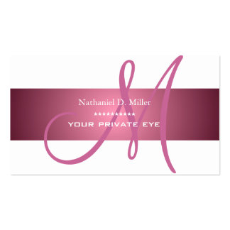 Customize this monogram DIY background color Business Card