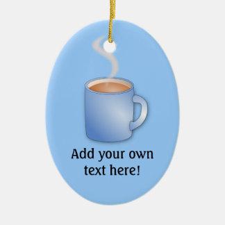 Customize this Mug of Coffee graphic Ceramic Oval Decoration