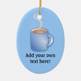 Customize this Mug of Coffee graphic Christmas Ornament