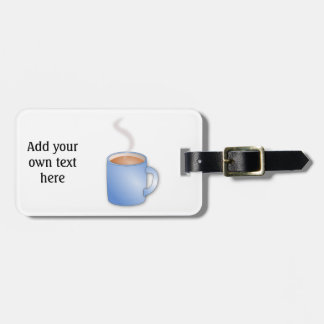 Customize this Mug of Coffee graphic Luggage Tag