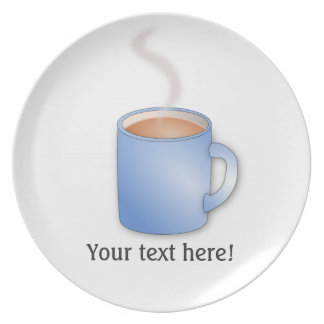 Customize this Mug of Coffee graphic Plate