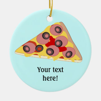 Customize this Pizza Slice graphic Christmas Ornament