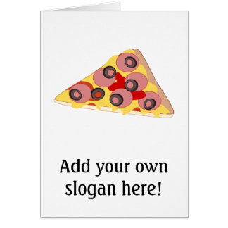 Customize this Pizza Slice graphic Greeting Card